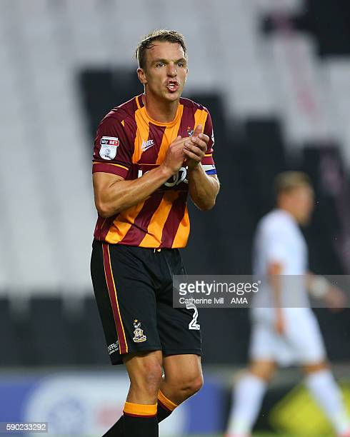 Anthony McMahon of Bradford City during the Sky Bet League One match between Milton Keynes Dons and Bradford City at Stadium mk on August 16 2016 in...