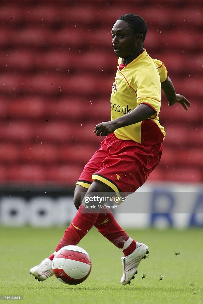 Anthony McNamee of Watford in action during the pre-season match between Watford and Chievo Verona at Vicarage Road on August 13, 2006 in Watford, England.