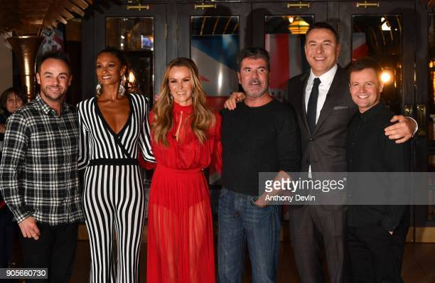 Anthony McPartlin Alesha Dixon Amanda Holden Simon Cowell Davis Walliams and Declan Donnelly attend the 'Britain's Got Talent' Blackpool auditions...