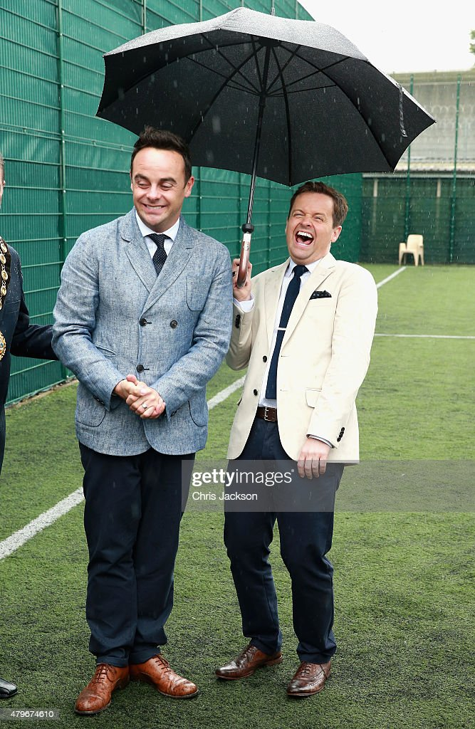 Anthony McPartlin and Declan Donnelly (who are supporters of the Prince's Trust) after meeting young offenders taking part in a 'Get Started with Football' programme run by the Prince's Trust during a visit to Parc Prison on July 6, 2015 in Bridgend, Wales.HM Prison and YOI Parc expanded earlier this year to become the largest prison in England and Wales with a capacity of 1,705 convicted male adult prisoners and remand/convicted young offenders. It is a category B local prison, which opened in 1997 and is managed by G4S.