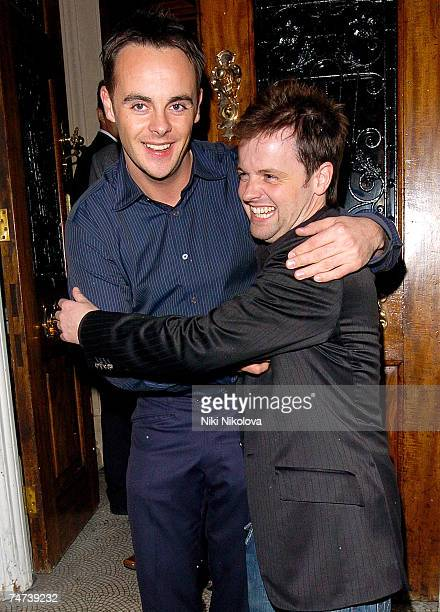 Anthony McPartlin and Declan Donnelly AKA Ant and Dec at the Ant and Dec 30th Birthday Party at No 5 Cavendish Square in London