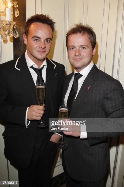 Anthony McPartlin and Declan Donnelly AKA Ant and Dec attend the TV Quick and TV Choice Awards at the Dorchester Hotel on September 03 2007 in London