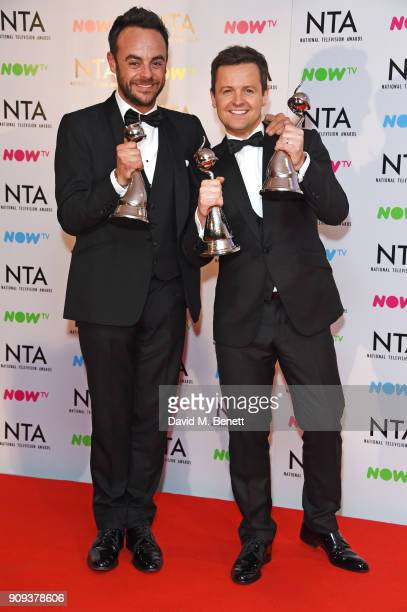 Anthony McPartlin and Declan Donnelly aka Ant Dec winners of the TV Presenter award and The Bruce Forsyth Entertainment Award pose in the press room...