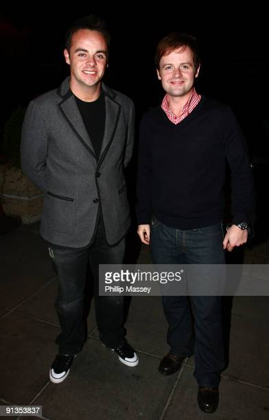 Anthony McPartlin and Declan Donnelly arrive at the Late Late Show at the RTE Studios on October 2 2009 in Dublin Ireland