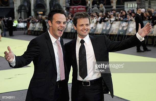Anthony McPartlin and Declan Donnelly arrive at the World Premiere of 'Alien Autopsy' at Odeon Leicester Square on April 3 2006 in London England