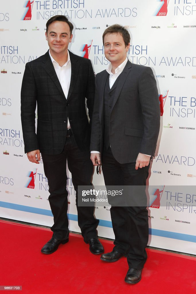 Anthony McPartlin and Declan Donnelly arrive for The British Inspiration Awards on April 23, 2010 in London, England.
