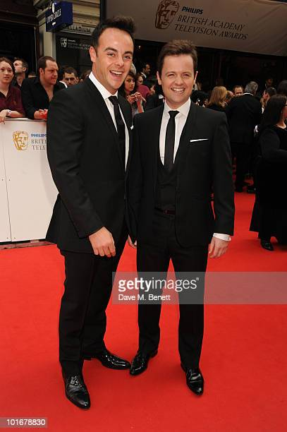 Anthony McPartlin and Declan Donnelly arrives at the Philips British Academy Television Awards at the London Palladium on June 6 2010 in London...