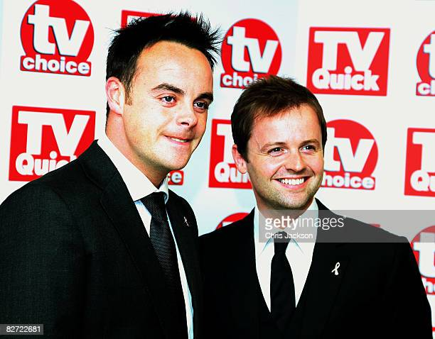 Anthony McPartlin and Declan Donnelly arrives at the TV Quick and TV Choice Awards at the Dorchester on September 8 2008 in London England
