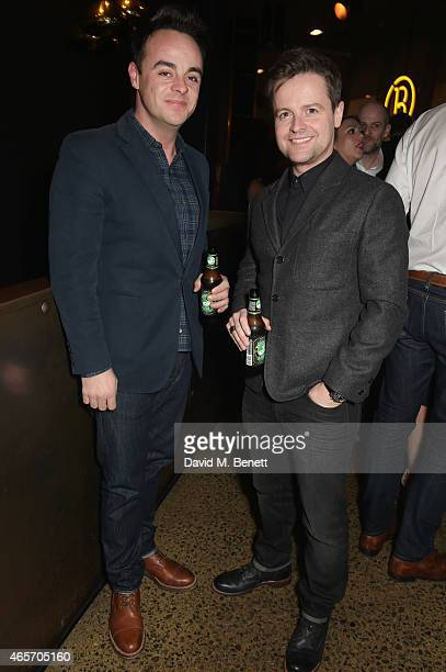 Anthony McPartlin and Declan Donnelly attend a party hosted by Instagram's Kevin Systrom and Jamie Oliver This is their second annual private party...