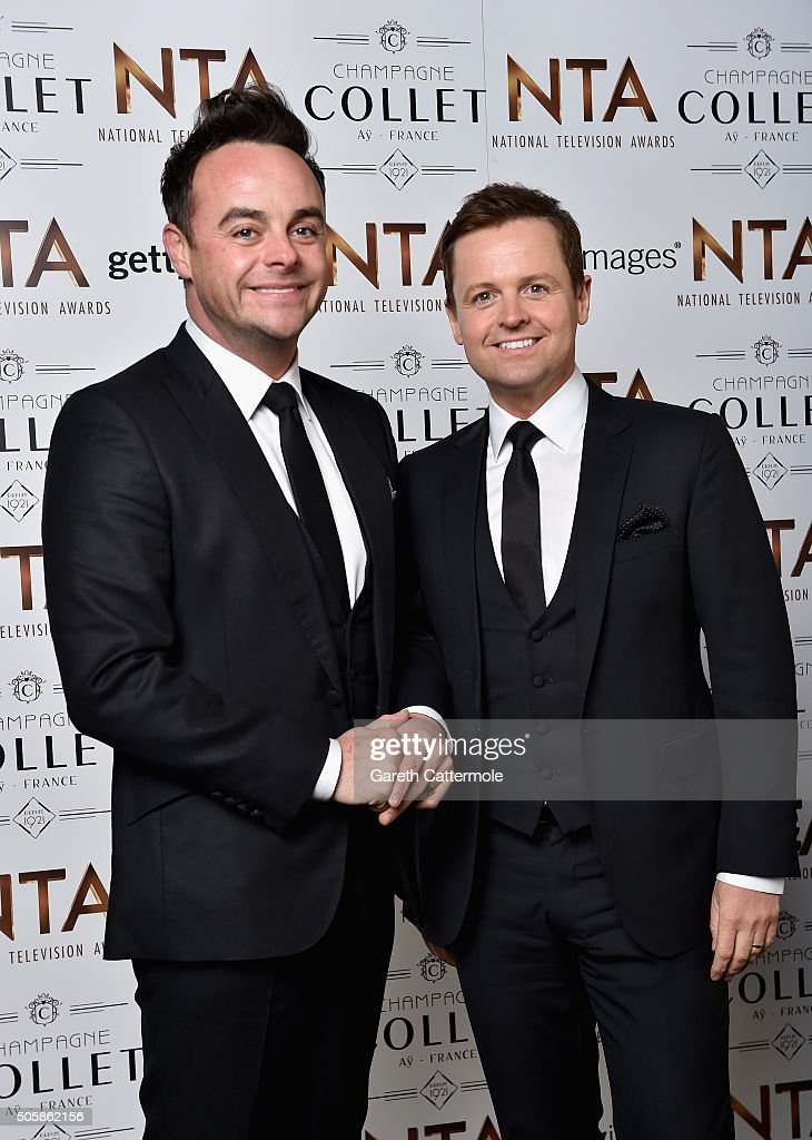 Anthony McPartlin (L) and Declan Donnelly attend the 21st National Television Awards at The O2 Arena on January 20, 2016 in London, England.