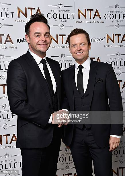 Anthony McPartlin and Declan Donnelly attend the 21st National Television Awards at The O2 Arena on January 20 2016 in London England