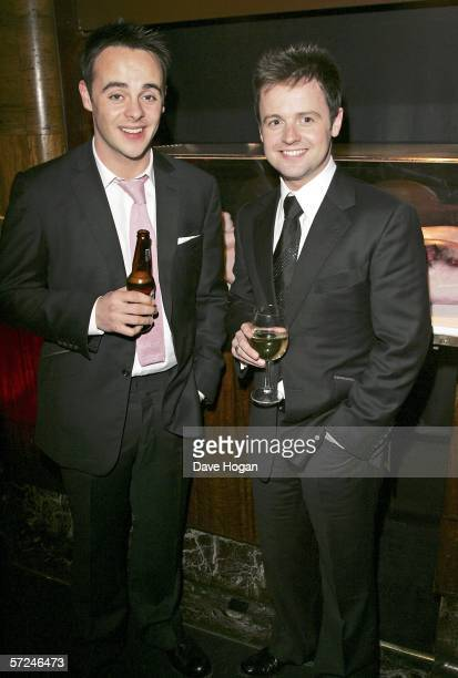 Anthony McPartlin and Declan Donnelly attend the after show party following the World Premiere of 'Alien Autopsy' at the Astor Grill on April 3 2006...