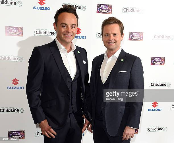 Anthony McPartlin and Declan Donnelly attend the Ant Dec's Saturday Night Takeaway Childline Ball at Old Billingsgate Market on October 1 2015 in...