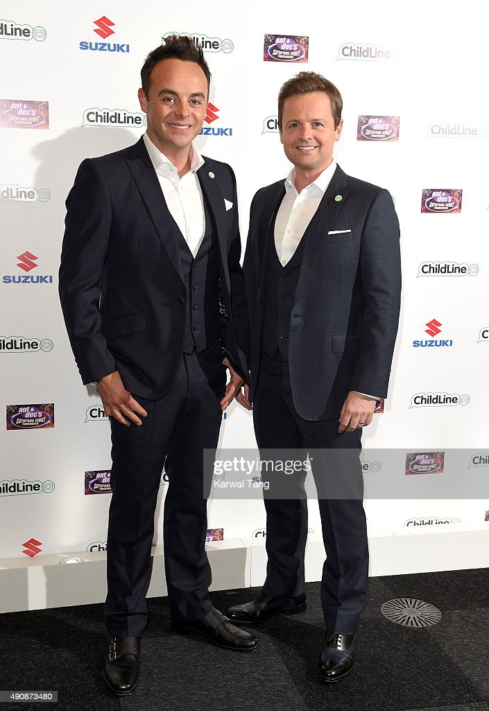 Anthony McPartlin and Declan Donnelly attend the Ant & Dec's Saturday Night Takeaway Childline Ball at Old Billingsgate Market on October 1, 2015 in London, England.