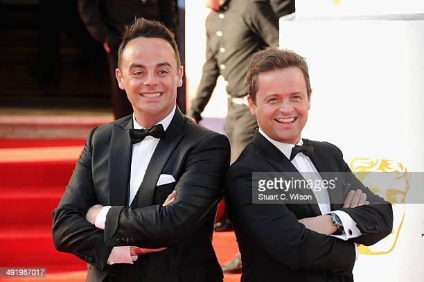 Anthony McPartlin and Declan Donnelly attend the Arqiva British Academy Television Awards at Theatre Royal on May 18 2014 in London England