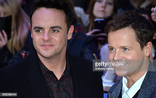 Anthony McPartlin and Declan Donnelly attend the Britain's Got Talent Auditions on January 22 2016 in London England