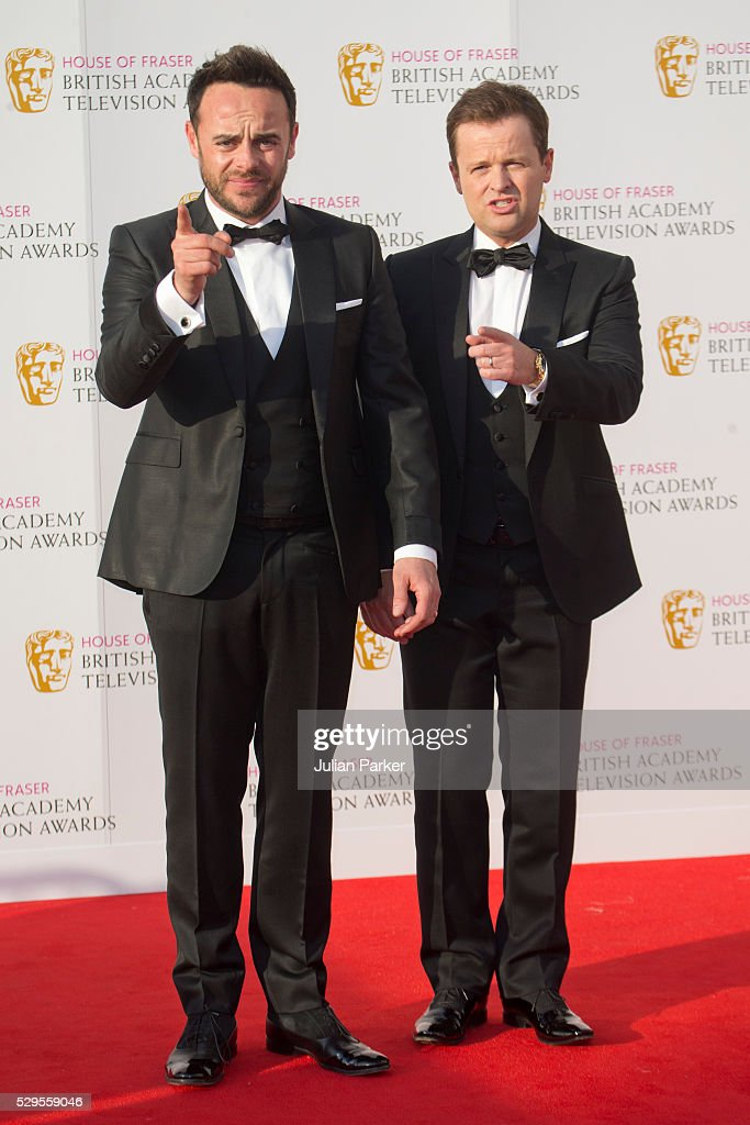 Anthony McPartlin and Declan Donnelly attend the House Of Fraser British Academy Television Awards 2016 at the Royal Festival Hall on May 8, 2016 in London, England.