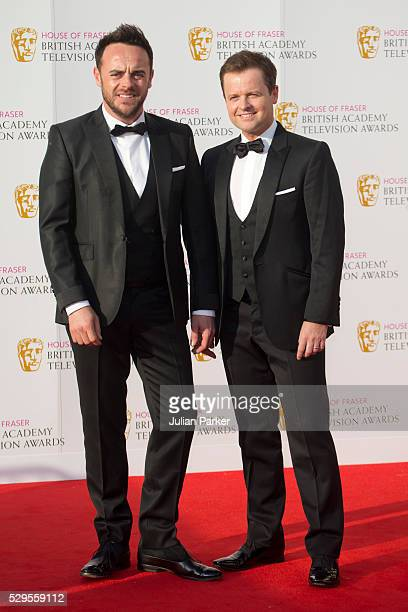 Anthony McPartlin and Declan Donnelly attend the House Of Fraser British Academy Television Awards 2016 at the Royal Festival Hall on May 8 2016 in...