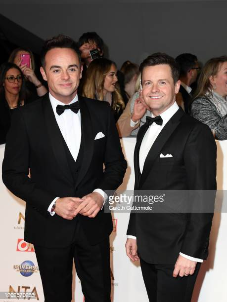 Anthony McPartlin and Declan Donnelly attend the National Television Awards 2020 at The O2 Arena on January 28, 2020 in London, England.