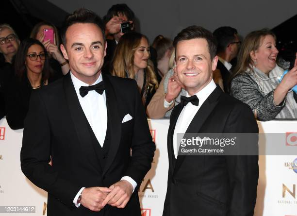Anthony McPartlin and Declan Donnelly attend the National Television Awards 2020 at The O2 Arena on January 28 2020 in London England