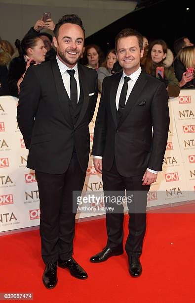 Anthony McPartlin and Declan Donnelly attend the National Television Awards on January 25 2017 in London United Kingdom