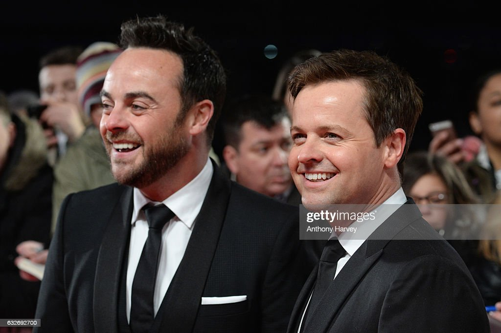 Anthony McPartlin and Declan Donnelly attend the National Television Awards on January 25, 2017 in London, United Kingdom.