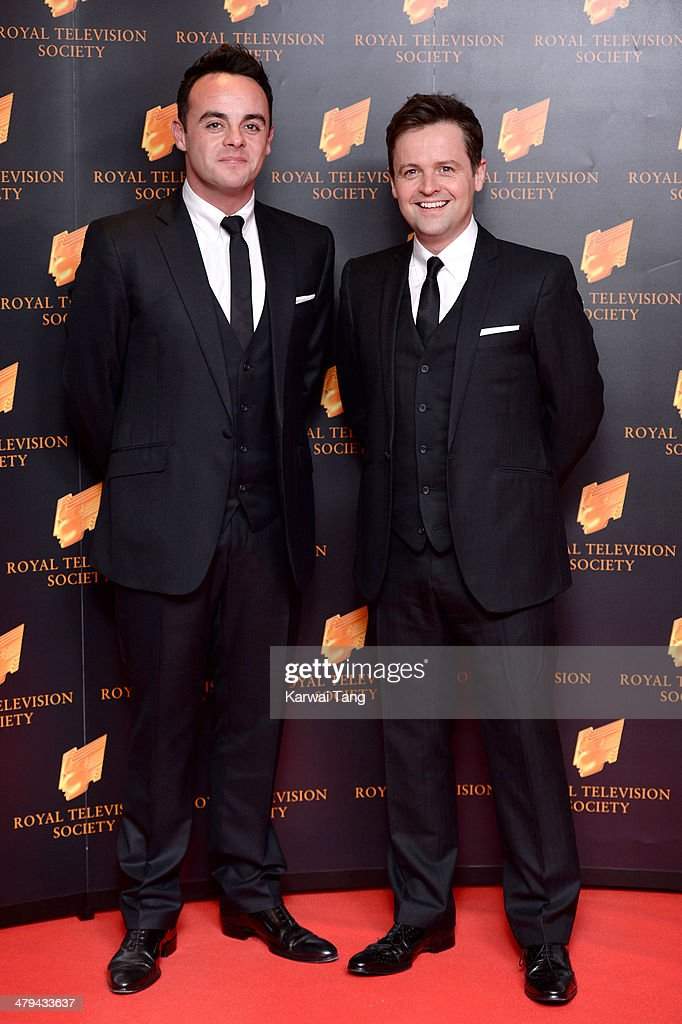 Anthony McPartlin and Declan Donnelly attend the RTS programme awards at Grosvenor House, on March 18, 2014 in London, England.