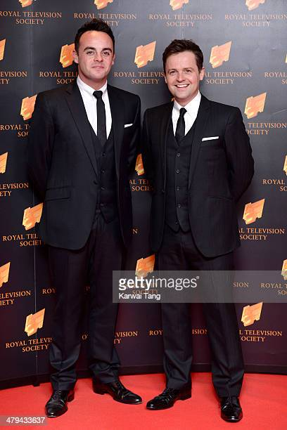 Anthony McPartlin and Declan Donnelly attend the RTS programme awards at Grosvenor House on March 18 2014 in London England