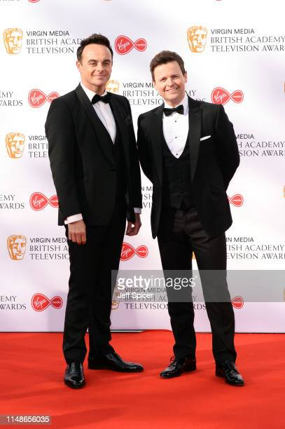 Anthony McPartlin and Declan Donnelly attend the Virgin Media British Academy Television Awards 2019 at The Royal Festival Hall on May 12 2019 in...