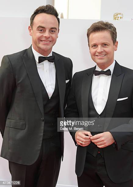 Anthony McPartlin and Declan Donnelly attends the House of Fraser British Academy Television Awards at Theatre Royal Drury Lane on May 10 2015 in...