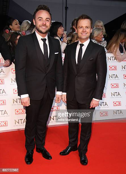 Anthony McPartlin and Declan Donnelly attends the National Television Awards at The O2 Arena on January 25 2017 in London England