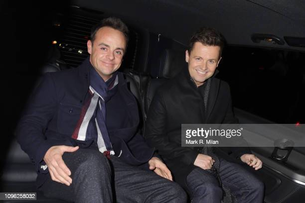 Anthony McPartlin and Declan Donnelly leaving the Britain's Got Talent recording at the Palladium theatre on January 18 2019 in London England