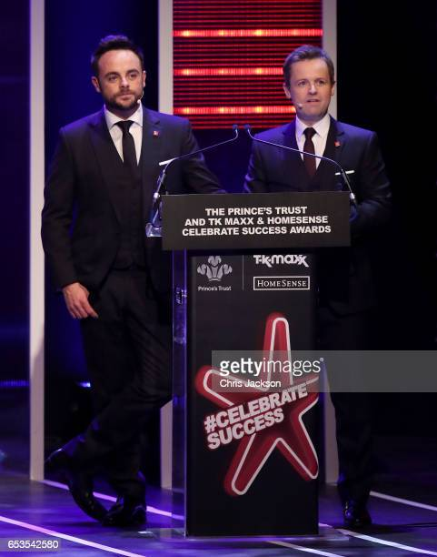 Anthony McPartlin and Declan Donnelly present the Prince's Trust Celebrate Success Awards on March 15 2017 in London England