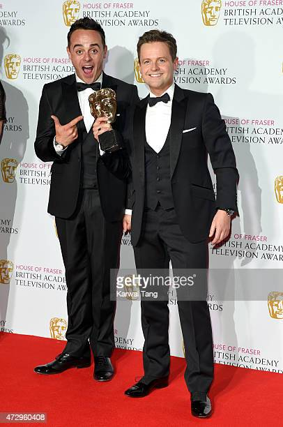 Anthony McPartlin and Declan Donnelly winners of Best Entertainment Programme for 'Ant Dec Saturday Night Takeaway' pose in the winners room at the...