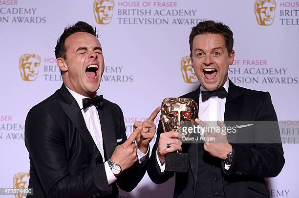 Anthony McPartlin and Declan Donnelly winners of Entertainment Programme pose in the winners room at the House of Fraser British Academy Television...