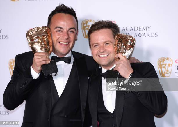 Anthony McPartlin and Declan Donnelly with the Entertainment Performance Award for Ant and Dec's Saturday Night Takeaway at the Arqiva British...