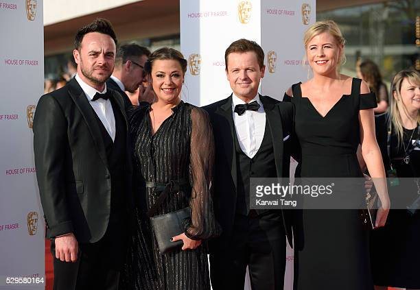 Anthony McPartlin and Declan Donnelly with their wives Lisa Armstrong and Ali Astall arrive for the House Of Fraser British Academy Television Awards...