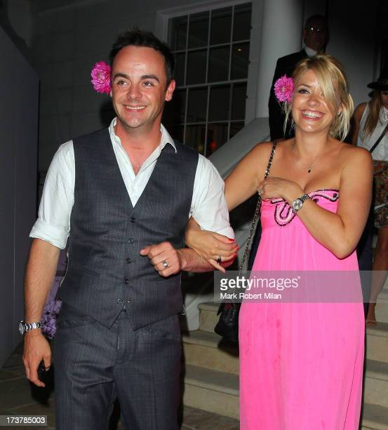 Anthony McPartlin and Holly Willoughby attending the ITV Summer Reception on July 17 2013 in London England