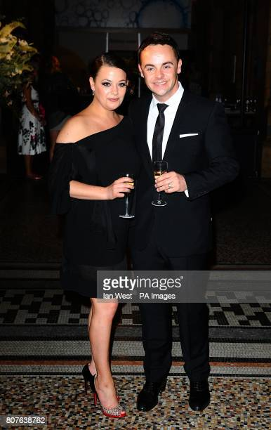 Anthony McPartlin and Lisa Armstrong arriving for the Philips British Academy Film Awards Aftershow Party at The Natural History Museum London