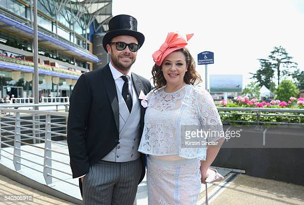 Anthony McPartlin and Lisa Armstrong attend day 2 of Royal Ascot at Ascot Racecourse on June 15 2016 in Ascot England