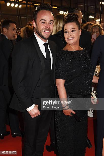 Anthony McPartlin and Lisa Armstrong attend the National Television Awards at Cineworld 02 Arena on January 25 2017 in London England