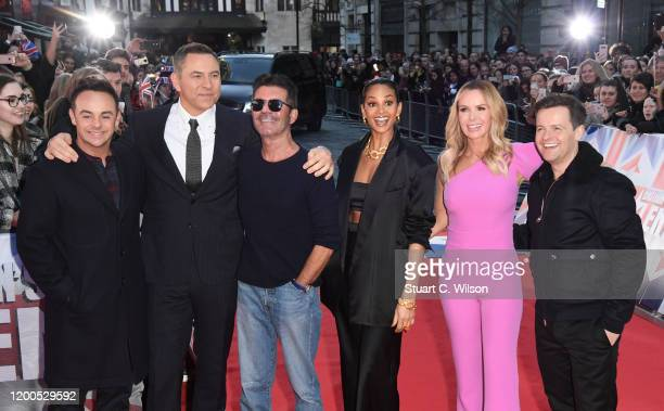 Anthony McPartlin David Walliams Simon Cowell Amanda Holden Alesha Dixon and Declan Donnelly attend the Britain's Got Talent 2020 photocall at the...
