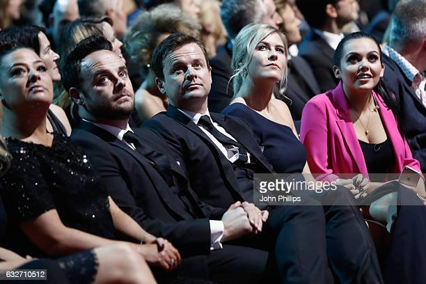 Anthony McPartlin Declan Donnelly Ali Astall and Scarlett Moffatt during the National Television Awards at The O2 Arena on January 25 2017 in London...