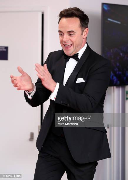 Anthony McPartlin in the winners room after winning the best TV Presenters during the National Television Awards 2020 at The O2 Arena on January 28...