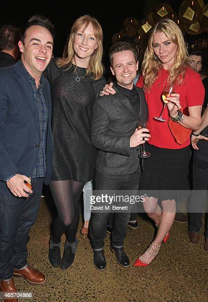 Anthony McPartlin Jade Parfitt Declan Donnelly and Jodie Kidd attend a party hosted by Instagram's Kevin Systrom and Jamie Oliver This is their...