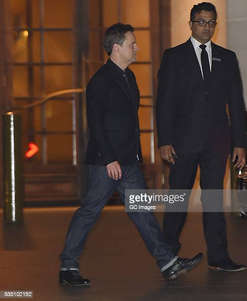 Anthony McPartlin leaves The Grosvenor House Hotel in Mayfair on May 28 2016 in London England