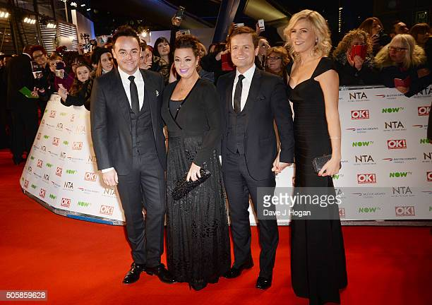 Anthony McPartlin Lisa Armstrong Declan Donnelly and Ali Astallattends the 21st National Television Awards at The O2 Arena on January 20 2016 in...