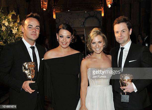 Anthony McPartlin Lisa Armstrong Georgie Thompson and Declan Donnelly attend the Philips British Academy Television Awards after party at the Natural...