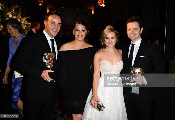 Anthony McPartlin Lisa Armstrong Georgie Thompson and Declan Donnelly at the Philips British Academy Film Awards Aftershow Party at The Natural...