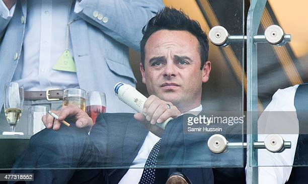 Anthony McPartlin watches the races during day 1 of Royal Ascot at Ascot Racecourse on June 16 2015 in Ascot England